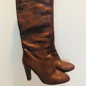 Zara Brown Leather Boots Size 39 (9)